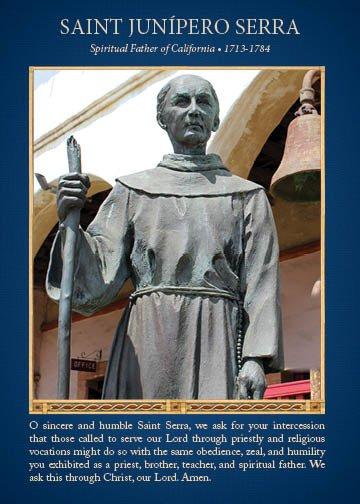 Saint Serra Prayer Card, front for web